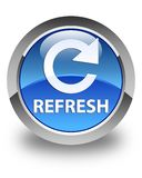 Refresh (rotate arrow icon) glossy blue round button Royalty Free Stock Photo