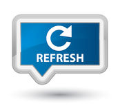 Refresh (rotate arrow icon) prime blue banner button Royalty Free Stock Photo