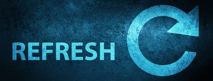 Refresh (rotate arrow icon) special blue banner background. Refresh (rotate arrow icon) isolated on special blue banner background abstract illustration vector illustration