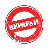 Refresh rubber stamp Royalty Free Stock Photo