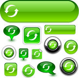 Refresh signs. Refresh  illustration of glossy icons Stock Photo