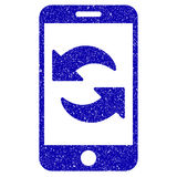 Refresh Smartphone Icon Grunge Watermark Stock Images