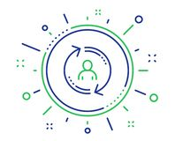 Refresh user info line icon. Update profile sign. Vector royalty free illustration