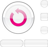 Refresh white button. Stock Images