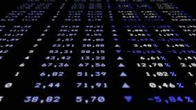 Refreshable aktiemarknadbräde, vinkelsikt stock illustrationer
