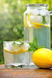 Refresher - cold lemonade Stock Photography