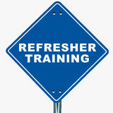 Refresher szkolenie ilustracja wektor