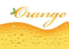Refresher Texture. Vector illustration of Orange refresher texture Stock Photo