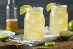 Refreshing Alcoholic Beer Margarita Beerita Stock Images