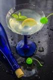 Refreshing alcoholic cocktail stock photo