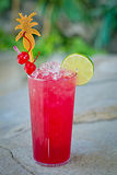 Refreshing alcoholic tropical cocktail Sea Devil Royalty Free Stock Photography