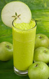 Refreshing apple smoothie milk shake Royalty Free Stock Photo