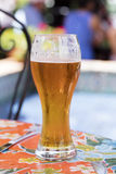Refreshing Beer and a Local Restaurant Royalty Free Stock Images