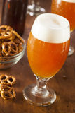 Refreshing Belgian Amber Ale Beer Stock Photography