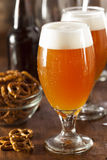 Refreshing Belgian Amber Ale Beer Royalty Free Stock Images