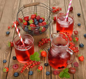 Refreshing berry drink Stock Photos