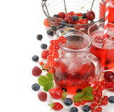 Refreshing berry drink Stock Photography