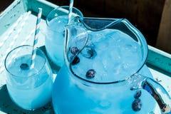 Refreshing Blueberry Lemonade Summer Drinks Stock Image