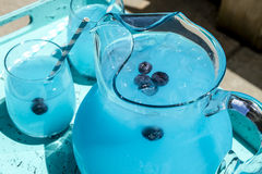 Refreshing Blueberry Lemonade Summer Drinks Stock Images