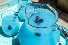 Refreshing Blueberry Lemonade Summer Drinks Stock Photos