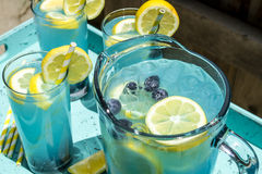 Refreshing Blueberry Lemonade Summer Drinks Royalty Free Stock Photos