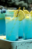 Refreshing Blueberry Lemonade Summer Drinks Royalty Free Stock Photos