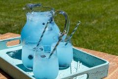 Refreshing Blueberry Lemonade Summer Drinks Royalty Free Stock Image