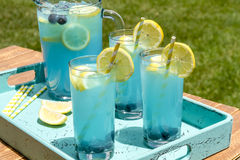 Refreshing Blueberry Lemonade Summer Drinks Stock Photography