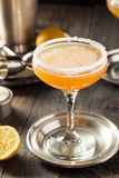 Refreshing Boozy Sidecar Cocktail Royalty Free Stock Photography