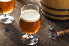 Refreshing Bourbon Barrel Aged Beer Stock Photo