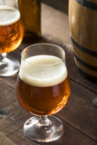 Refreshing Bourbon Barrel Aged Beer Royalty Free Stock Images