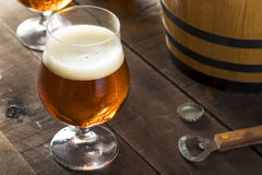 Refreshing Bourbon Barrel Aged Beer Stock Photography