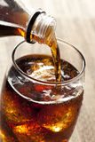 Refreshing Brown Soda with Ice Stock Image