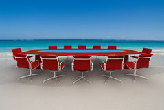 Refreshing business meeting Royalty Free Stock Photo