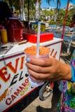 Refreshing cebiche, street food in Santa Mrta Royalty Free Stock Photo