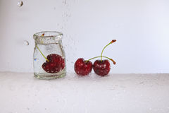 The refreshing cherry. Stock Photography