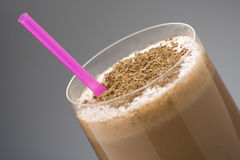 Refreshing chocolate shake with chocolate Birutes Stock Photography