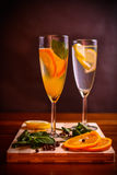 Refreshing Citrus Cocktails Royalty Free Stock Photo