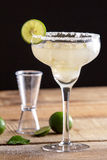 Refreshing classic margarita with lime and salt Royalty Free Stock Image