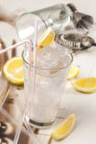 Refreshing clear, lemon drink Stock Images