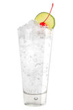 Refreshing cocktail with ice and a slice of lime Stock Photo