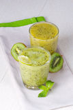 Refreshing cocktail of kiwi and mint Stock Image