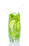 Refreshing cocktail with mint and lime Royalty Free Stock Image