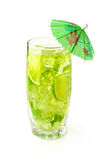Refreshing cocktail with mint and lime Stock Photography