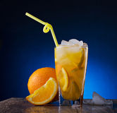 Refreshing cocktail of orange Stock Photos