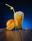 Refreshing cocktail with orange and ice Royalty Free Stock Photo