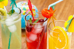 Refreshing cocktails and Globe, concept Royalty Free Stock Image