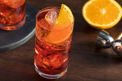 Refreshing Cold Americano Cocktail Stock Photo