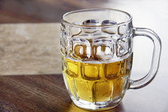 Refreshing cold beer in glass bock Royalty Free Stock Photos