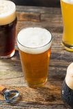 Refreshing Cold Craft Beer Assortment. Of IPA Lager and Stout royalty free stock photos